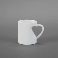 Picture of Ceramic Bisque 30619 Small Heart Mug