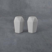 Picture of Ceramic Bisque 38249 Faceted Shakers