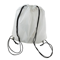 Picture of Sublimation Polyester White Drawstring Backpack 34cm x 40cm