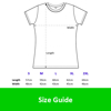 Sublimation Polyester T-Shirt White Ladies - Size Chart