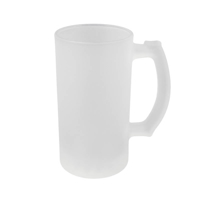 Photo of Ceramicraft's Large 475ml 16oz Sublimation Blank Frosted Glass Beer Stein
