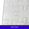Photo showing the flecks of glitter in Ceramicraft's 126 Piece Sublimation Magnetic Jigsaw Puzzle