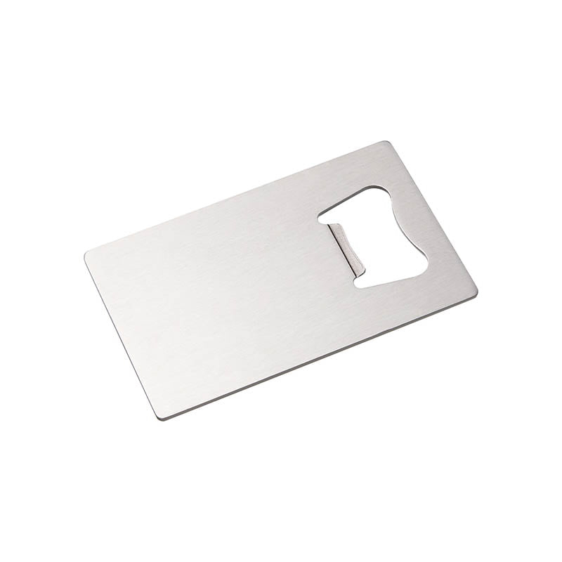Angled photo of Sublimation Stainless Steel 5.3cm x 8.5cm Credit Card Bottle Opener