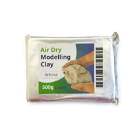 Photo of Ceramicraft White Air Dry Modelling Clay 500g in Foil Packaging